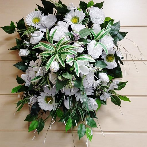 accessoires couronne de fleurs blanches